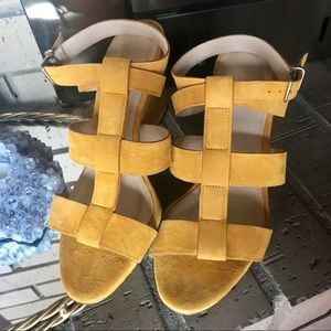 Genuine suede J CREW wedges. 6.5 made in Italy